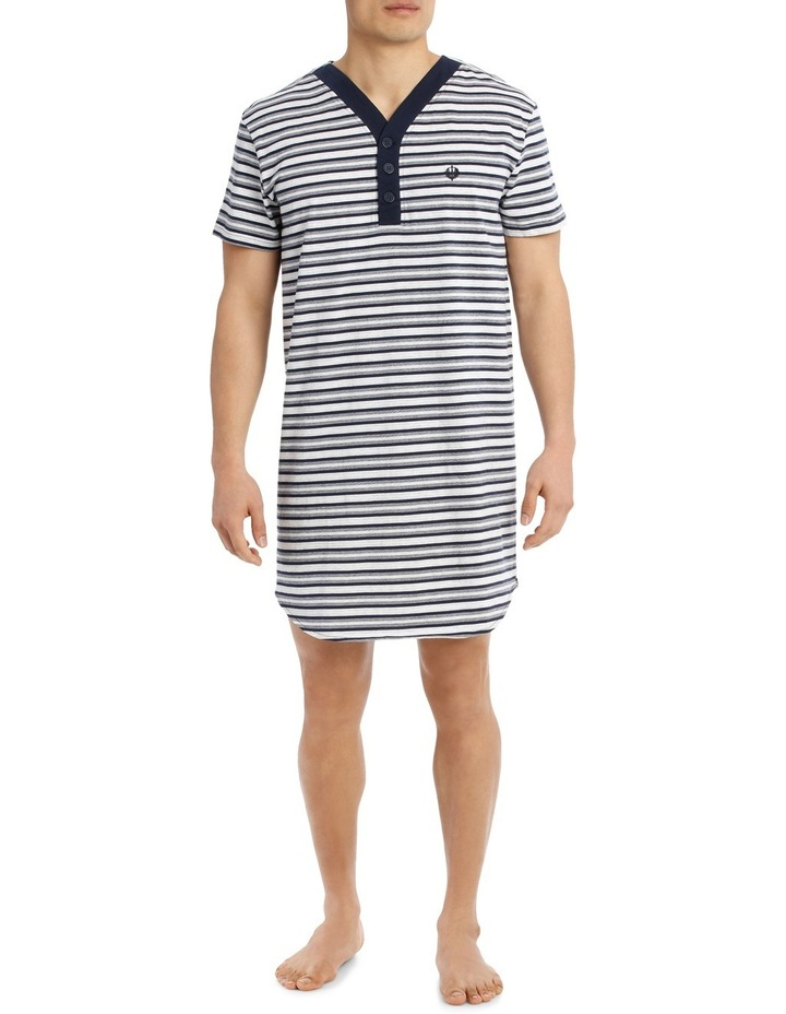 Multi Stripe Knit Nightshirt image 1