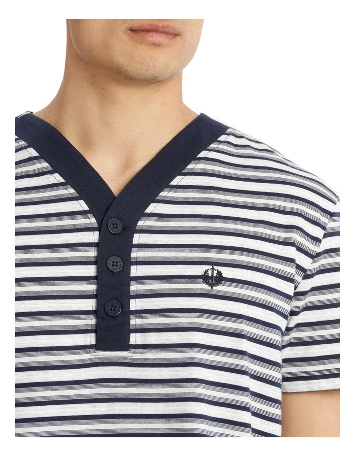 Multi Stripe Knit Nightshirt image 3