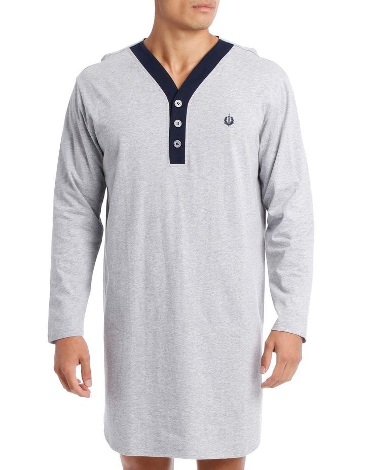 Plain Knit Long Sleeve Niteshirt image 1