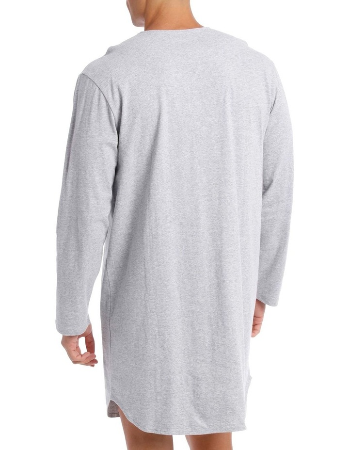 Plain Knit Long Sleeve Niteshirt image 2
