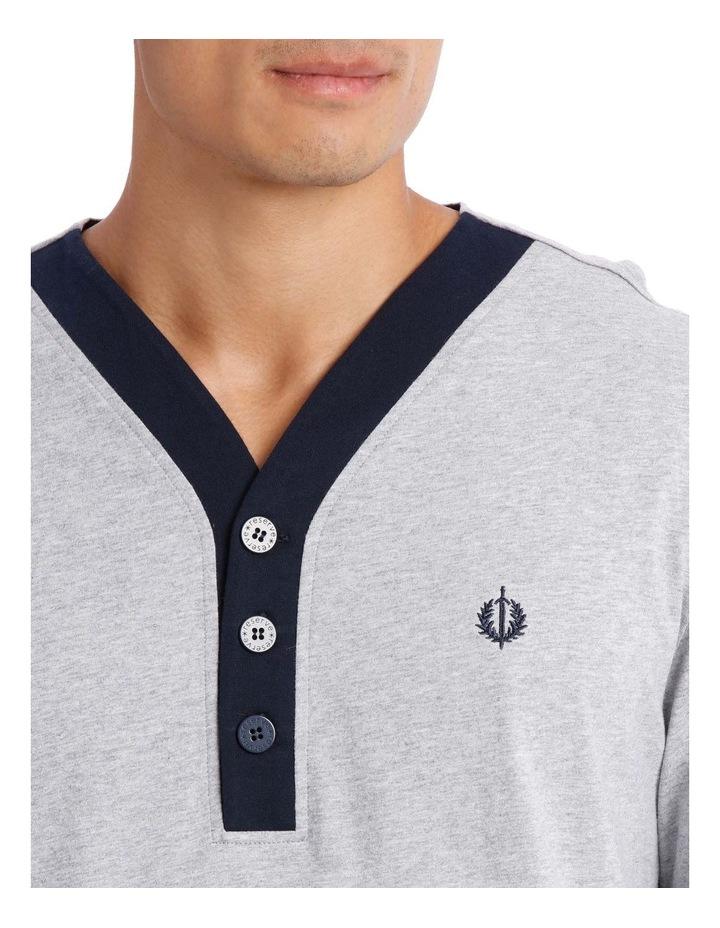 Plain Knit Long Sleeve Niteshirt image 3