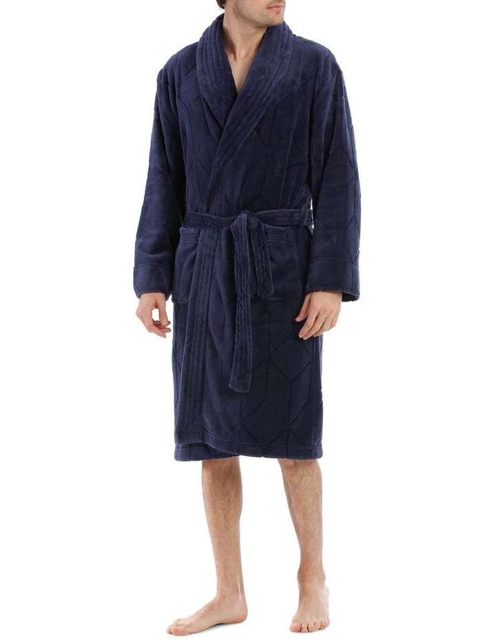 Geo Coral Fleece Dressing Gown image 1