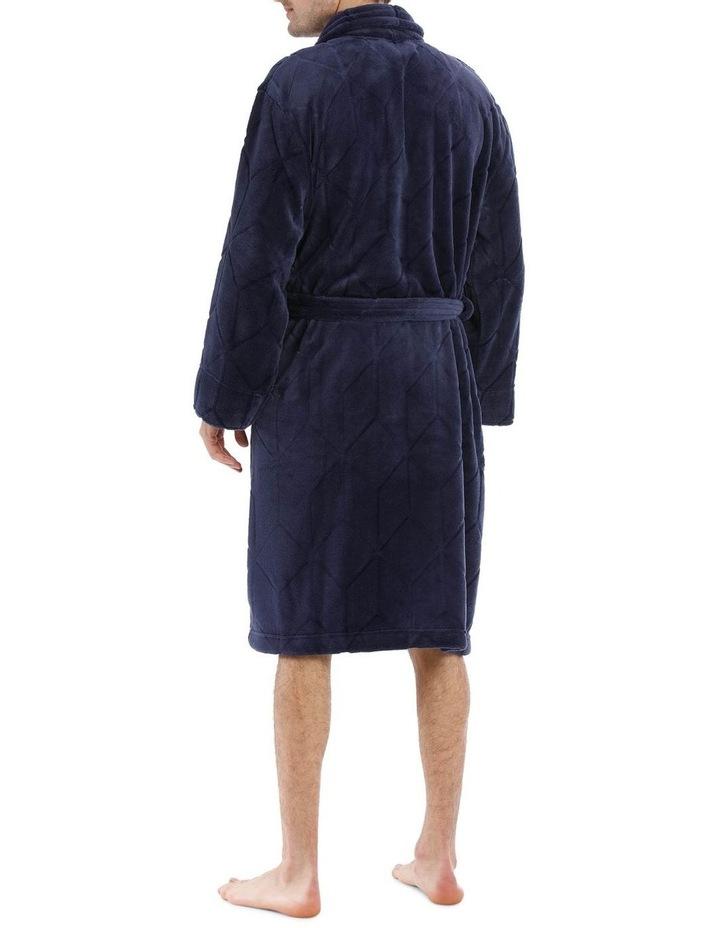 Geo Coral Fleece Dressing Gown image 2