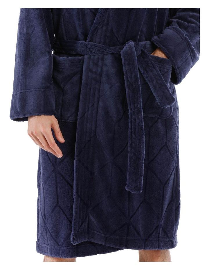 Geo Coral Fleece Dressing Gown image 3