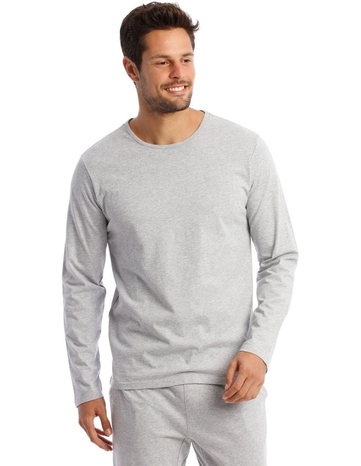Long-Sleeve Sleep T-Shirt in Grey image 1
