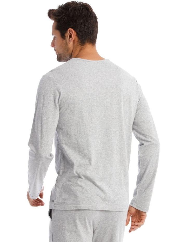 Long-Sleeve Sleep T-Shirt in Grey image 2