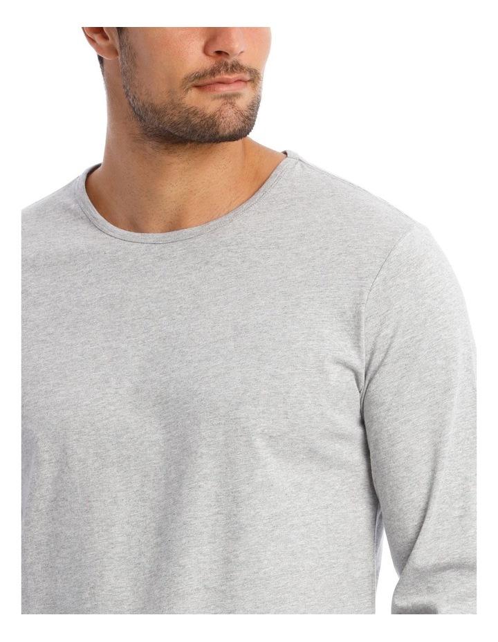 Long-Sleeve Sleep T-Shirt in Grey image 3