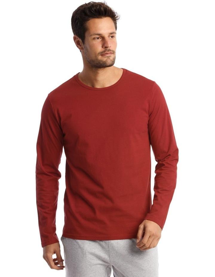 Long-Sleeve Sleep T-Shirt in Red image 1