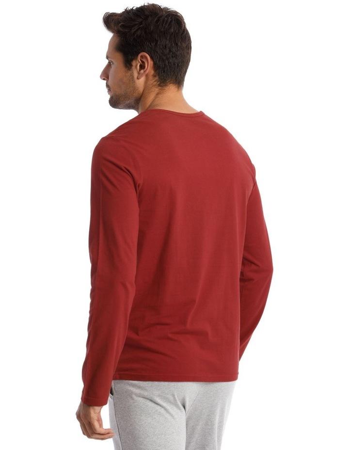 Long-Sleeve Sleep T-Shirt in Red image 2