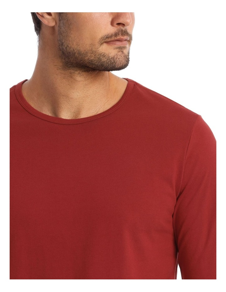 Long-Sleeve Sleep T-Shirt in Red image 3