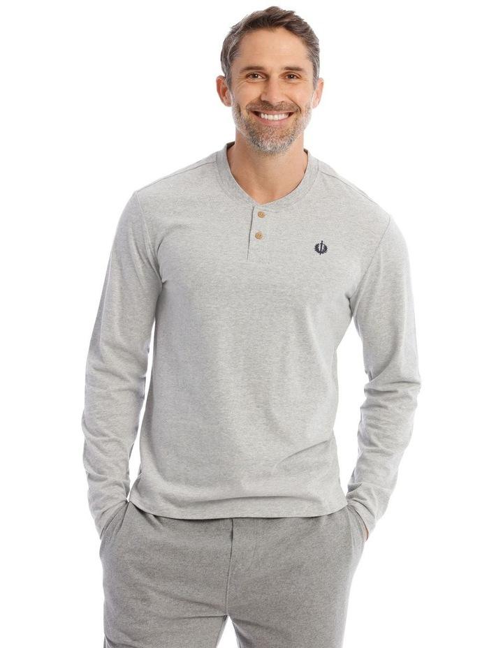 Premium Henley Long-Sleeve Sleep T-Shirt image 1