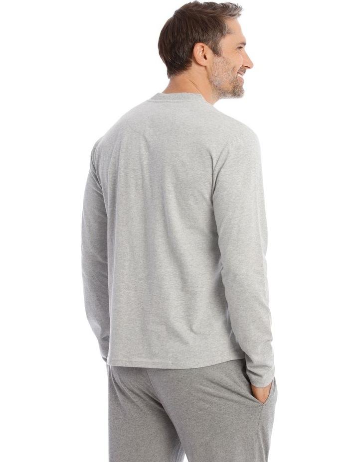 Premium Henley Long-Sleeve Sleep T-Shirt image 2