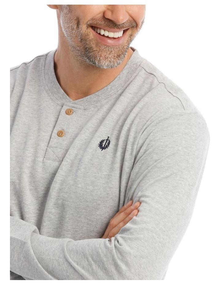 Premium Henley Long-Sleeve Sleep T-Shirt image 3