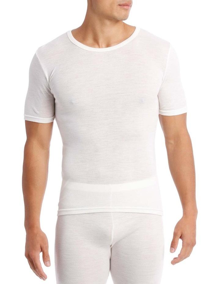 Merino Wool Blend Short Sleeve Top image 1