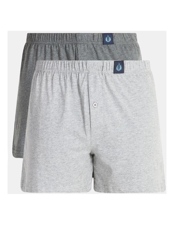 2 Pack Loose Knit Boxer Shorts image 1
