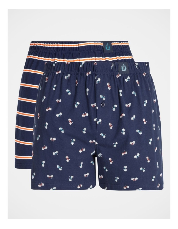 2 Pack Bikes & Stripes Loose Knit Boxers image 1