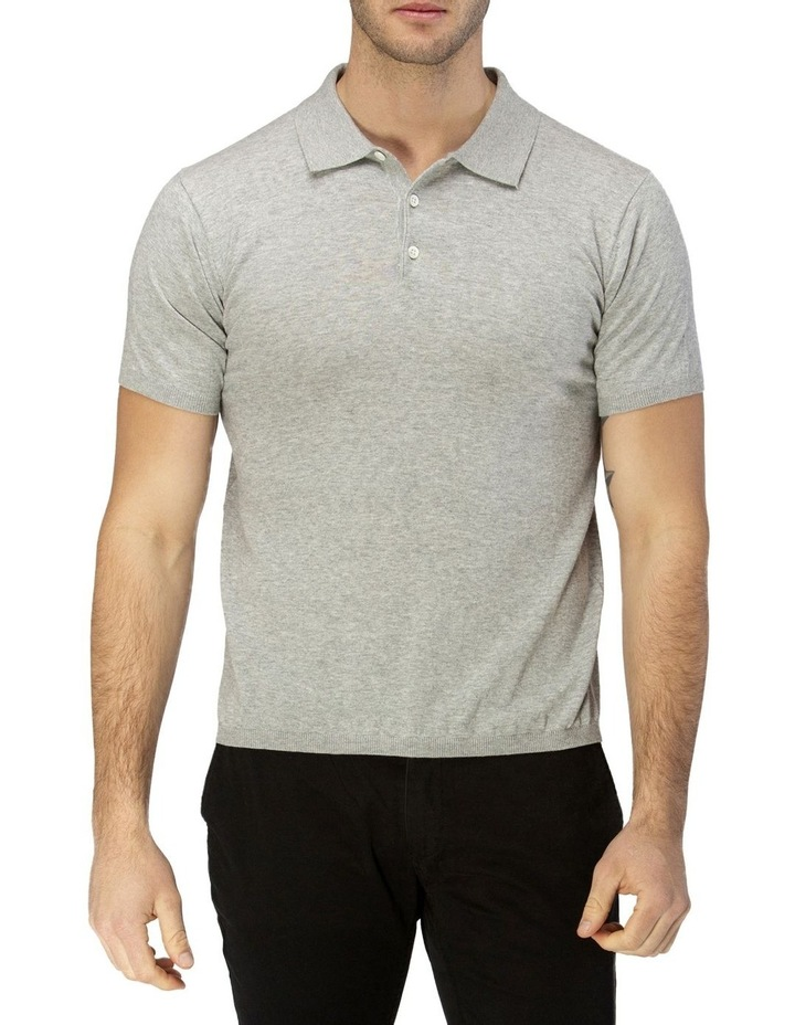Short Sleeve Fine Knit Polo image 1