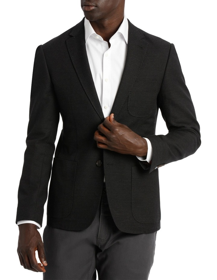 Alec Textured Black Sports Jacket. image 1
