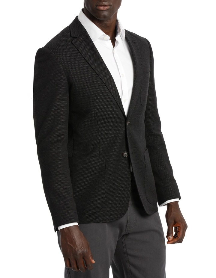 Alec Textured Black Sports Jacket. image 2