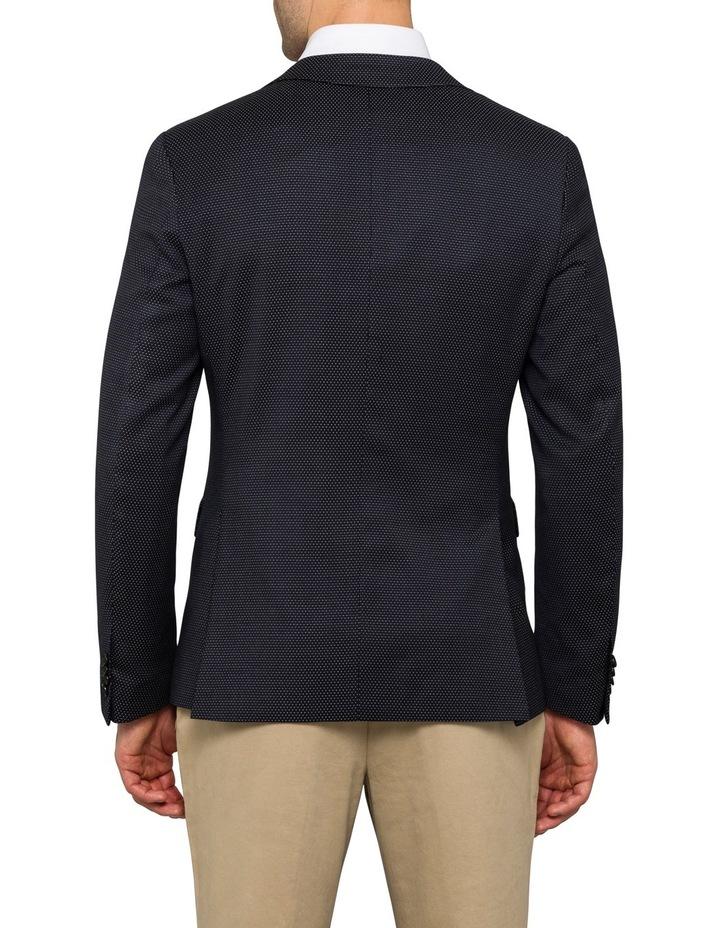 Black / Navy Spot With Satin Lapel Sports Jacket CBSM020Z_RBLK image 2