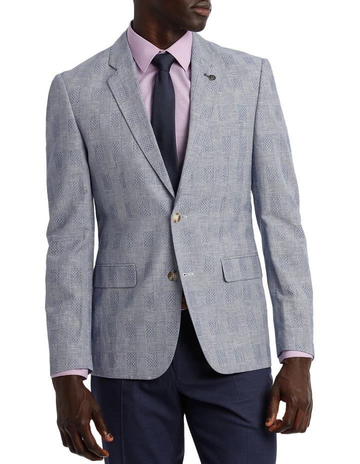 Linen Blend Prince Of Wales Blazer image 1