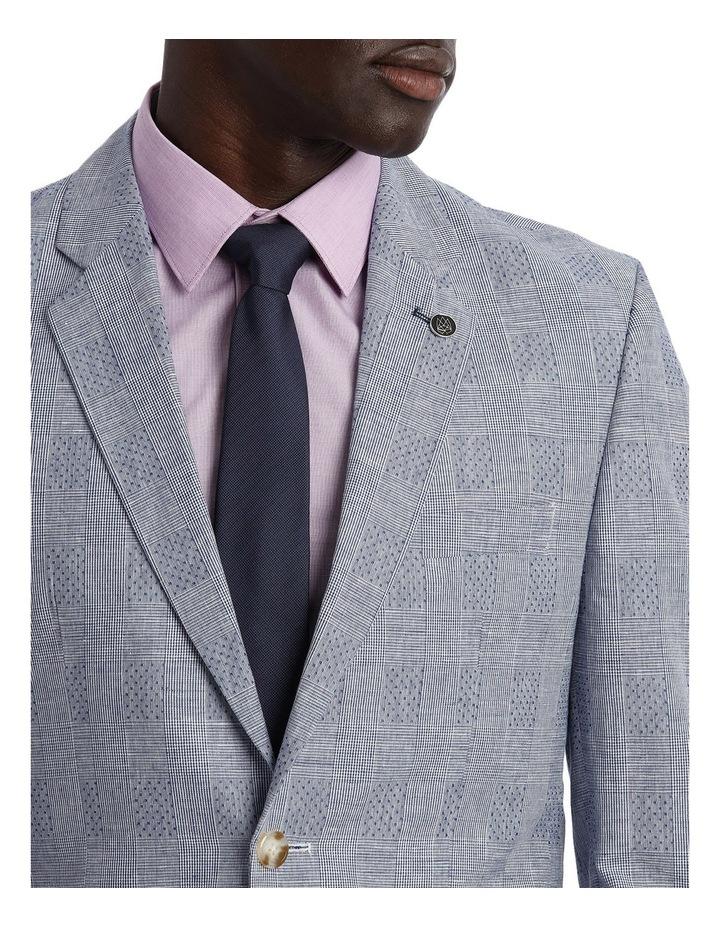 Linen Blend Prince Of Wales Blazer image 4