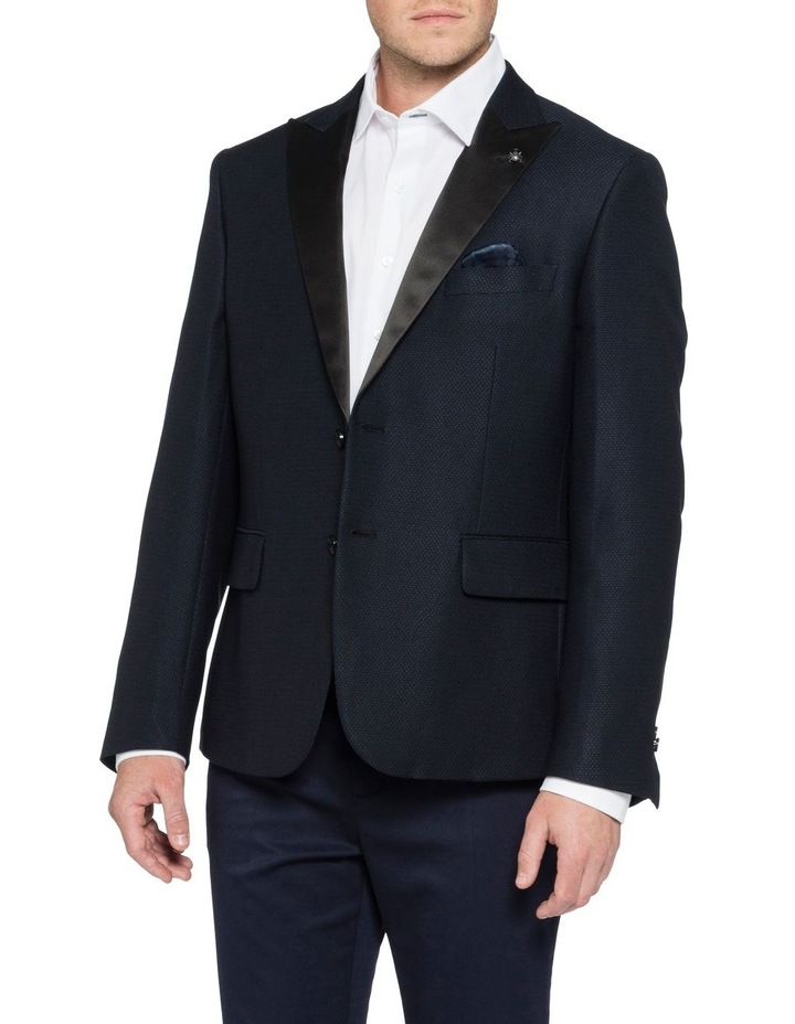 Satin Peak Lapel Dobby Jacket image 1