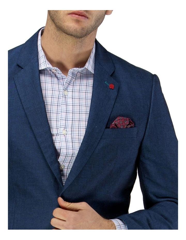 Linen Blend Textured Plain Blazer image 4