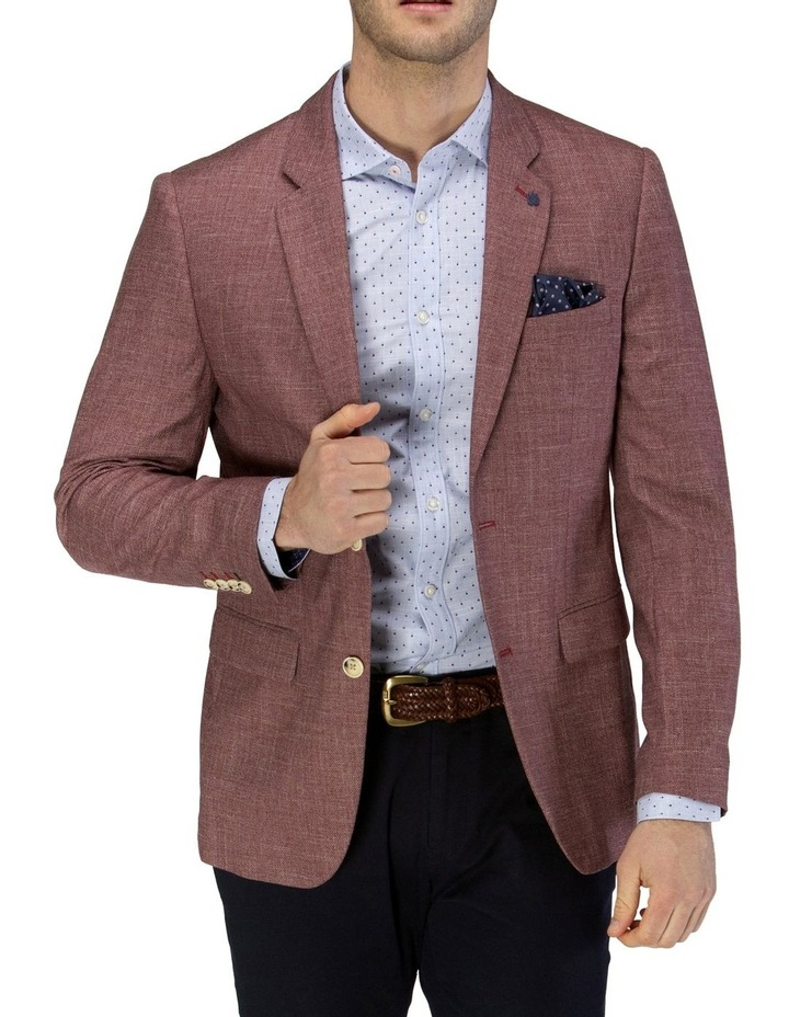 Two-tone Textured Blazer image 1