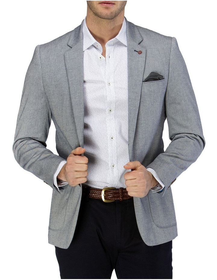 Stretch Herringbone Blazer image 1