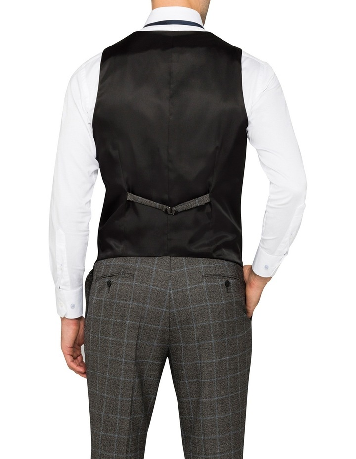 Charcoal With Blue Check Suit Vest CVXM005Z_CBLK image 2