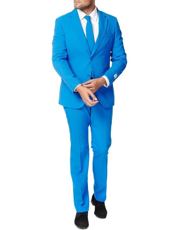Men's Blue Steel Solid Suit image 1