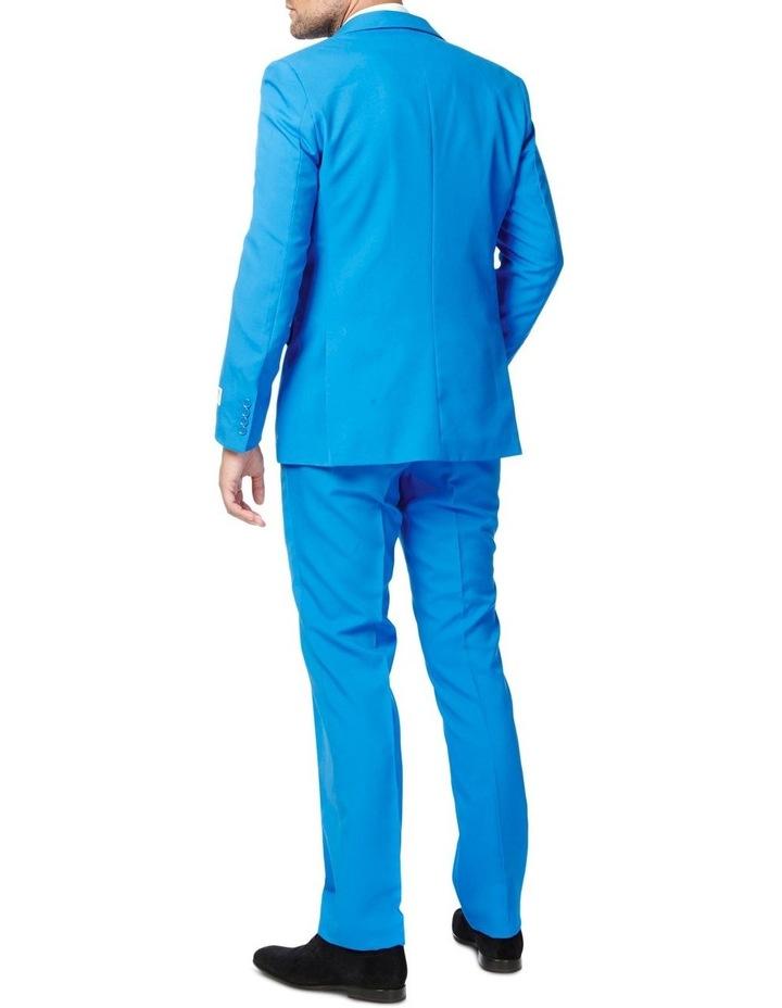 Men's Blue Steel Solid Suit image 2
