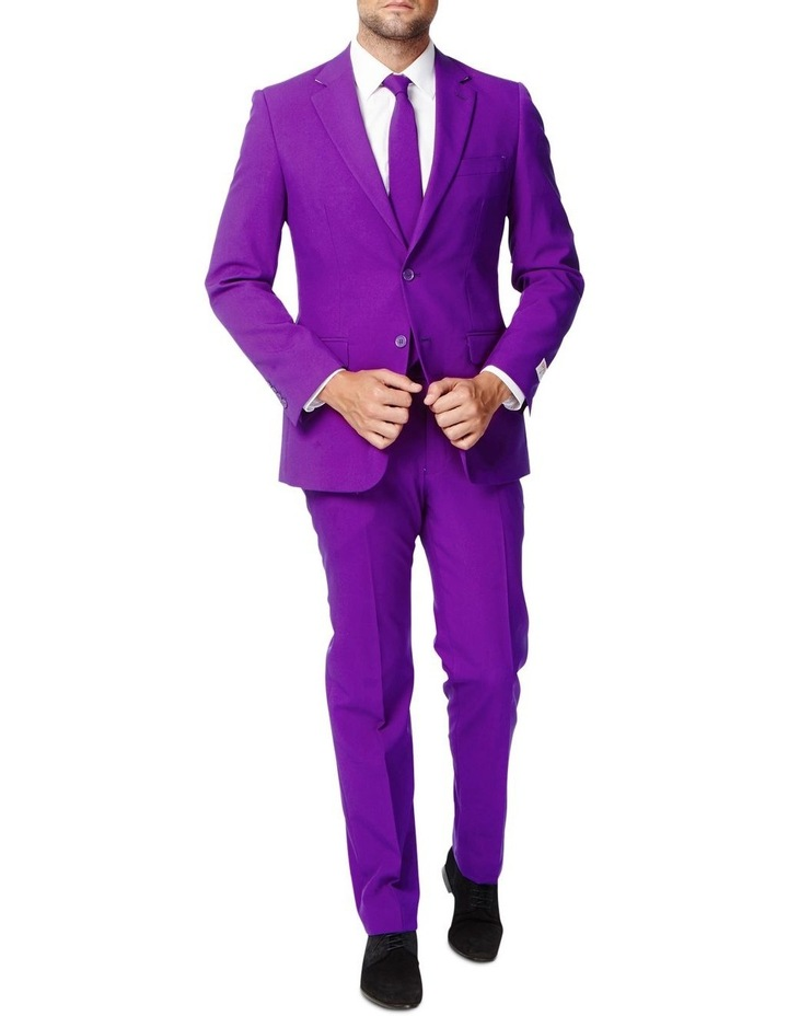 Men's Purple Prince Solid Suit image 1