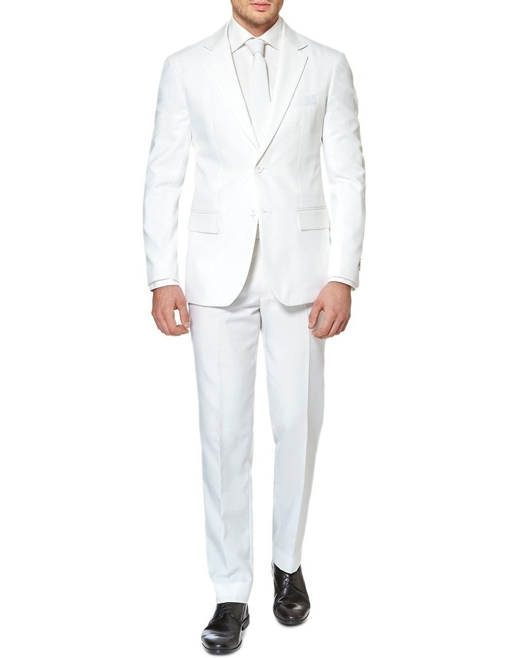 Men's White Knight Solid Suit image 1