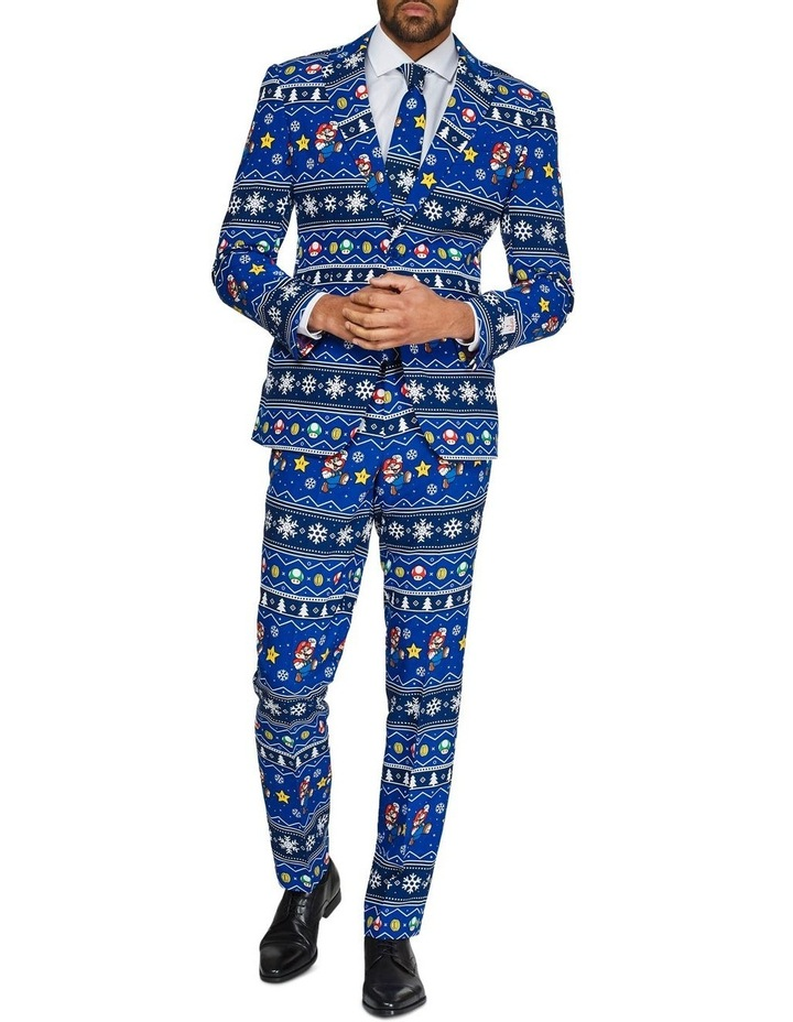 Men's Merry Mario Licenced Christmas Suit image 1