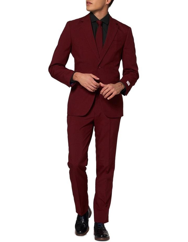 Men's Blazing Burgundy Solid Suit image 1