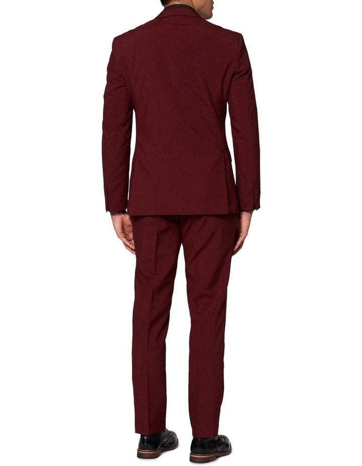 Men's Blazing Burgundy Solid Suit image 2