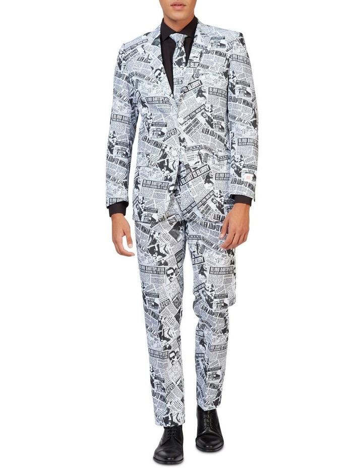 Men's Textile Telegraph Newspaper Suit image 1