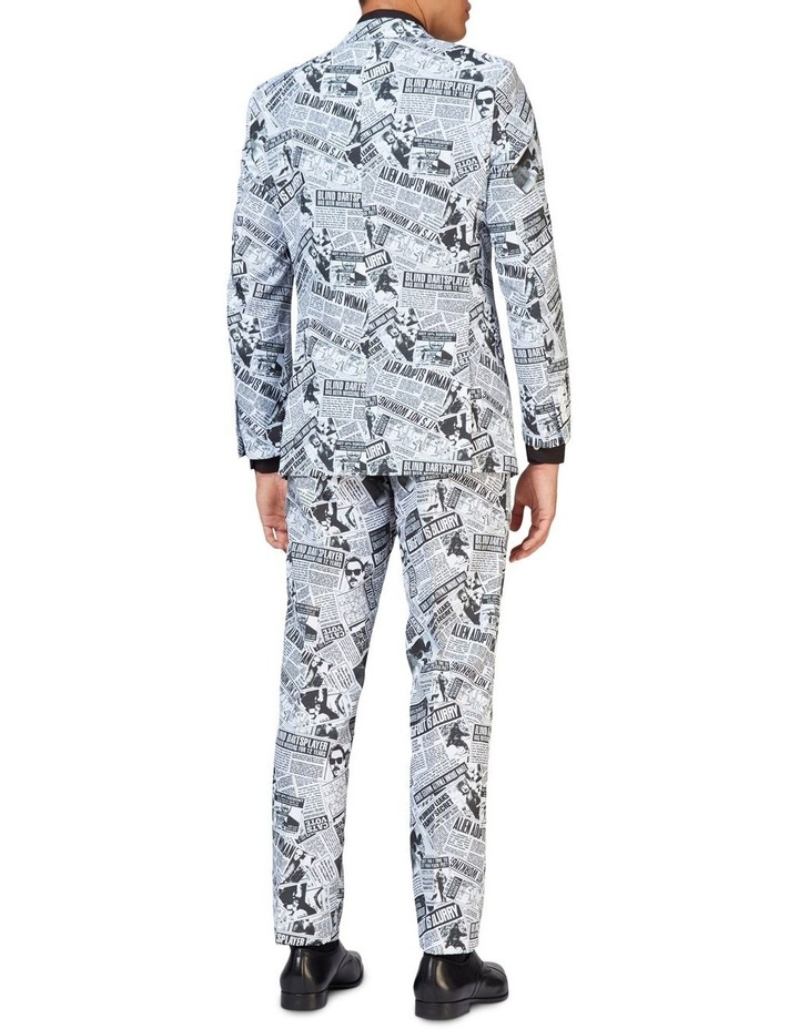 Men's Textile Telegraph Newspaper Suit image 2