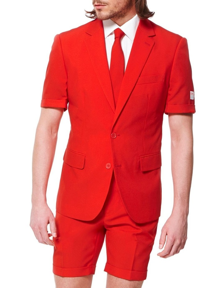Men's Summer Red Devil Solid Suit image 1