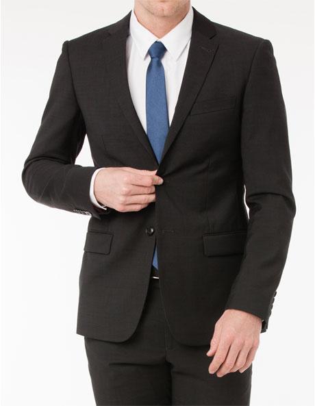 Slim Fit Charcoal Suit Jacket image 1