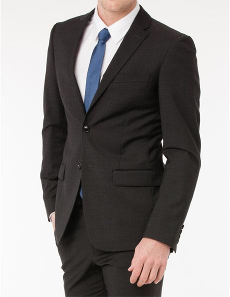 Slim Fit Charcoal Suit Jacket image 2