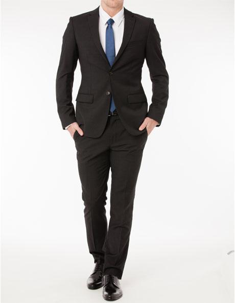 Slim Fit Charcoal Suit Jacket image 4