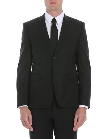 f7ea62b2825d Calvin Klein Black Plain Suit Jacket