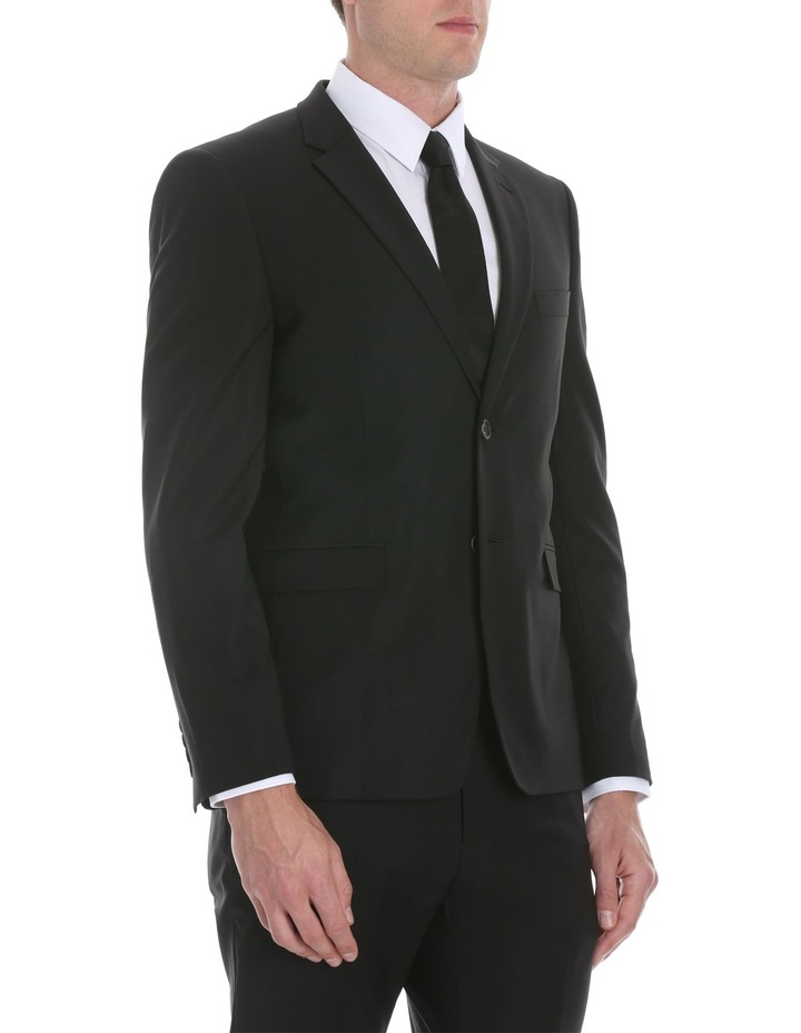 Black Plain Suit Jacket image 2