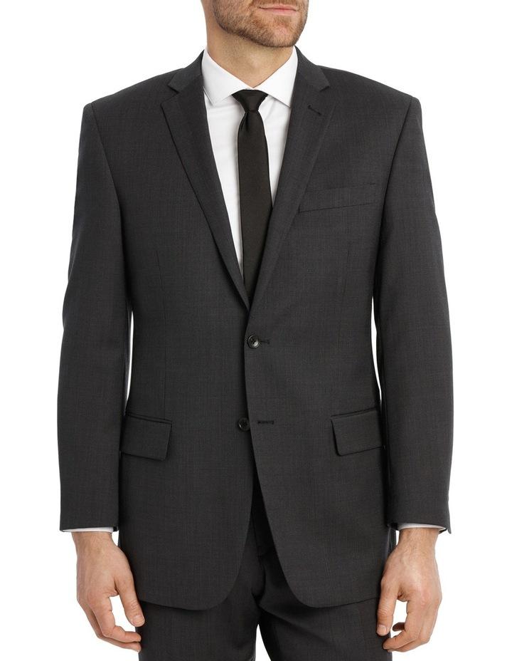 Charcoal Pindot Suit Jacket image 1