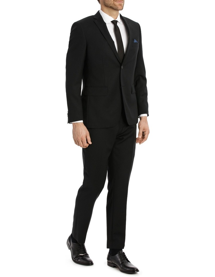 Black Textured Suit Jacket image 2