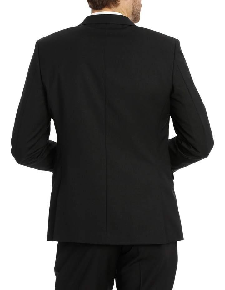 Black Textured Suit Jacket image 3