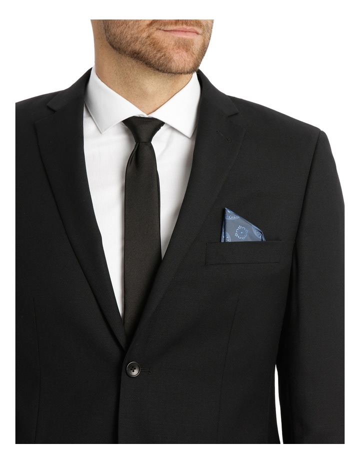 Black Textured Suit Jacket image 4